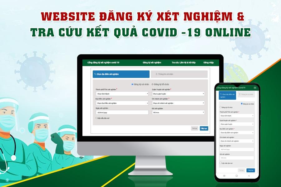 website đăng ký xét nghiệm covid
